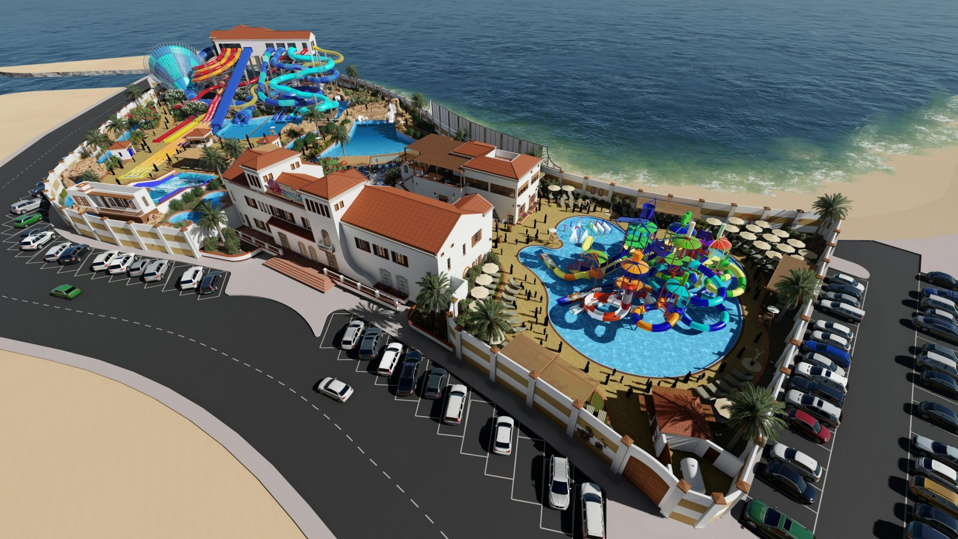 Water Park aerial view